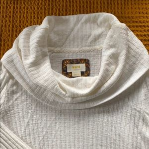 Anthropologie Peplum Cowl Neck Sweater